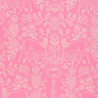 Gypsy Girl 11465-18 Candy Floss Pink Secret Meadow by Moda EOB