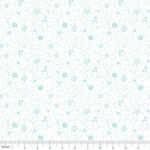 Modern Lace 115.105.04.2 Blue Whitework by Blend