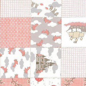 Storybook 13110-13 Peach Patchwork by Kate & Birdie for Moda