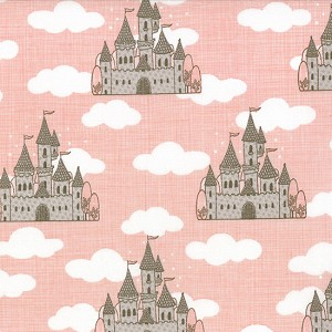 Storybook 13111-16 Peach Castles by Kate & Birdie for Moda