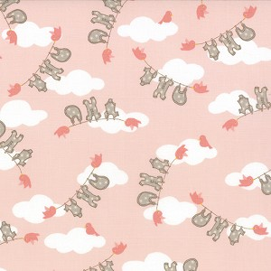 Storybook 13113-16 Peach Clothesline by Kate & Birdie for Moda