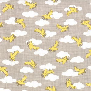 Storybook 13115-14 Banana Airplanes by Kate & Birdie for Moda