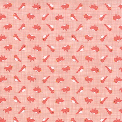 Storybook 13117-16 Peach Birdies by Kate & Birdie for Moda EOB