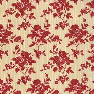 Midwinter Reds 14762-15 Cream Red Chintz Floral by Moda