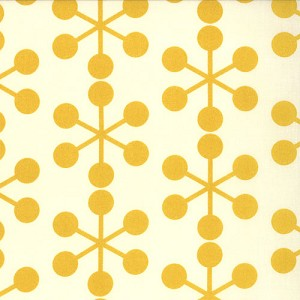 Comma 1511-20 Chalk Mustard Asteriks by Zen Chic for Moda