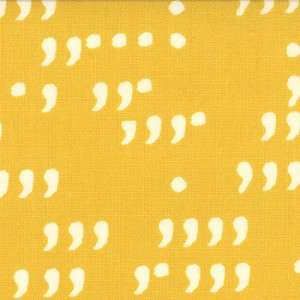 Comma 1514-23 Mustard Chalk Commas by Zen Chic for Moda