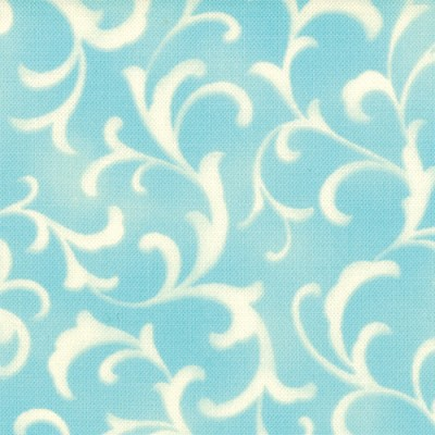 Coquette 16065-12 Aqua Scroll by Chez Moi for Moda