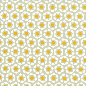 Moonlit 1904-001 Yellow Hexies by Cotton + Steel