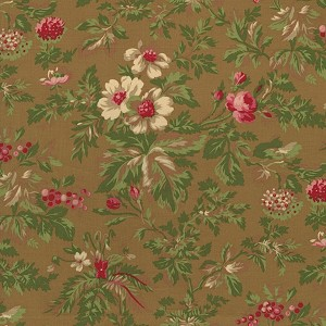 Incarnadine 1994-004 Brown Med Floral by Robyn Pandolph for RJR