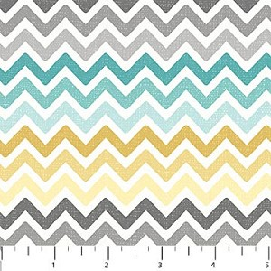 Feathered Friends 20032-91 Multi Chevron by Northcott