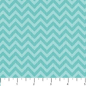 Feathered Friends 20033-61 Aqua Tonal Chevron by Northcott
