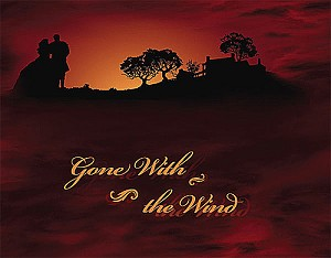 Gone With The Wind An American Classic 21285-M Wine Tara Sunset EOB