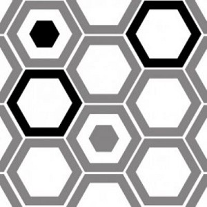 Design Studio Collection 2140503-2 Gray Hexagons by Camelot