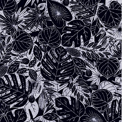 Indigo Blues 2305 Tropical Leaves by Henry Glass