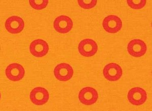 Summerhome 24046 Orange Circles by Kathy McGee for Red Rooster