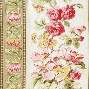 Attic Treasures 24084 Beige Floral Stripe by Red Rooster EOB