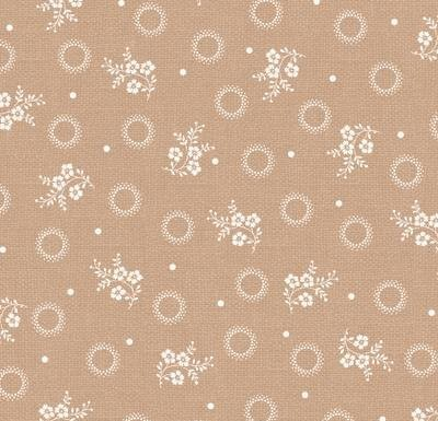 With All My Heart 24805 Tan Floral Sprig by Red Rooster