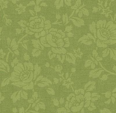 With All My Heart 24809 Green Damask by Red Rooster