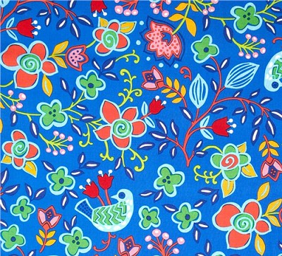 Sundborn Garden 25025 Blue Main Floral by Red Rooster