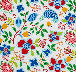 Sundborn Garden 25025 White Main Floral by Red Rooster