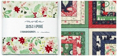 25th & Pine Charm Pack by Basic Grey for Moda