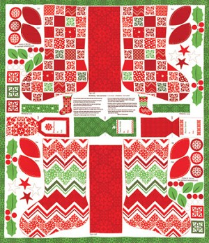 Joy 27121-11 Snow Stockings Panel by Kate Spain for Moda
