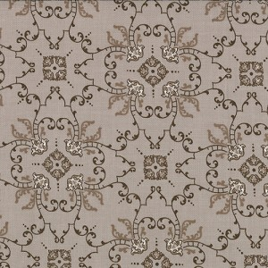 Windsor Lane 2843-20 Taupe Ornamental Scroll by Bunny Hill EOB