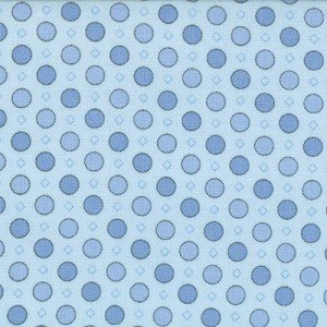 Jubilee 2845-28 Blue Geo Dot by Bunny Hill for Moda EOB