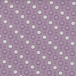 Jubilee 2845-32 Mauve Geo Dot by Bunny Hill for Moda EOB