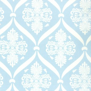 Jubilee 2852-13 Pale Blue Bunny Damask by Bunny Hill for Moda