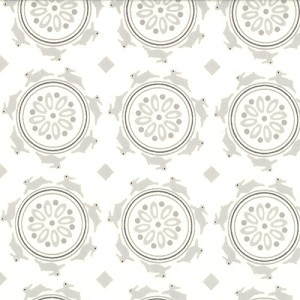 Jubilee 2853-15 Cream Grey Medallion by Bunny Hill for Moda