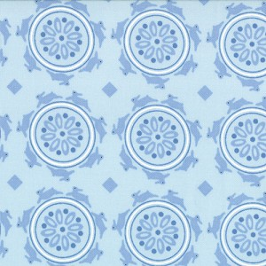 Jubilee 2853-17 Blue Medallion by Bunny Hill for Moda
