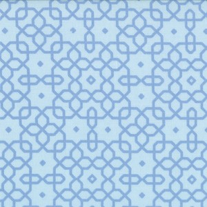 Jubilee 2854-13 Blue Geo Trellis by Bunny Hill for Moda