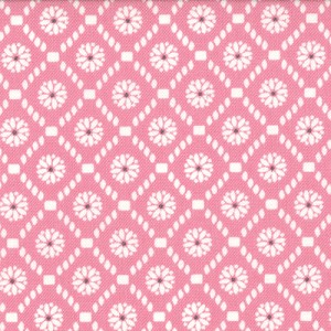 Jubilee 2855-11 Pink Medallion Check by Bunny Hill for Moda