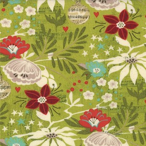 Aspen Frost 30330-15 Evergreen Oh What Fun by Basic Grey for Moda