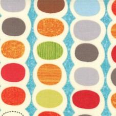 Mod Century 30513-16 Turquoise Pod Stripes by Jenn Ski for Moda