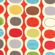 Mod Century 30513-17 Tangerine Pod Stripes by Jenn Ski for Moda