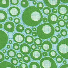 Mod Century 30516-15 Aqua Leaf Pod Dots by Jenn Ski for Moda