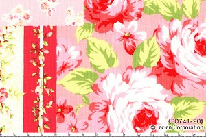 Floral Collection 30741-20 Pink Patchwork by Lecien