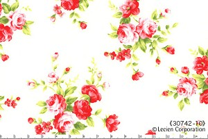 Floral Collection 30742-10 White Medium Floral by Lecien EOB