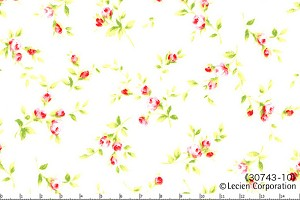 Floral Collection 30743-10 White Small Floral by Lecien