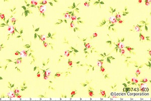 Floral Collection 30743-50 Yellow Small Floral by Lecien