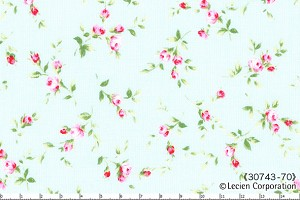 Floral Collection 30743-70 Blue Small Floral by Lecien