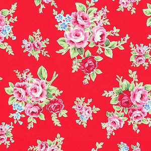 Flower Sugar Fall '13  30841-30 Lg Floral on Red by Lecien