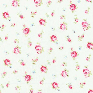 Flower Sugar Fall '13  30843-10 Small Floral on White by Lecien