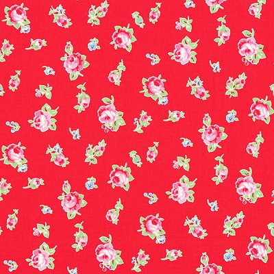 Flower Sugar Fall '13  30843-30 Small Floral on Red by Lecien