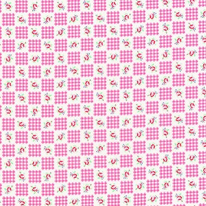 Flower Sugar Fall '13  30844-20 Pink Gingham Roses by Lecien