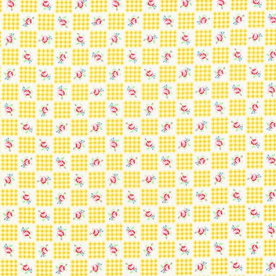 Flower Sugar Fall '13  30844-50 Yellow Gingham Roses by Lecien