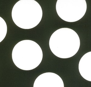 Half Moon Modern 32357-12 Black Big Dots by Moda