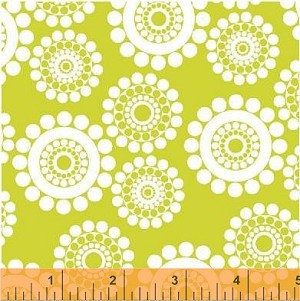 Shadow Flower 33448-2 Lime Mono Circle Dot by Windham Fabrics